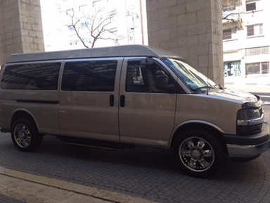Elite VIP, chevrolet van, helicopter flights